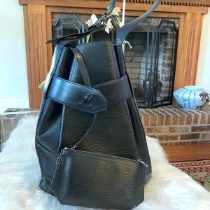 Authentic Louis Vuitton Sac D'Epaule Epi Black